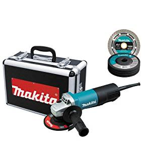 Makita 9557PBX1 4-1/2-Inch Angle Grinder with Aluminum Case