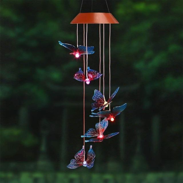 Amazing Wind Chime, Color Changing Solar Mobile
