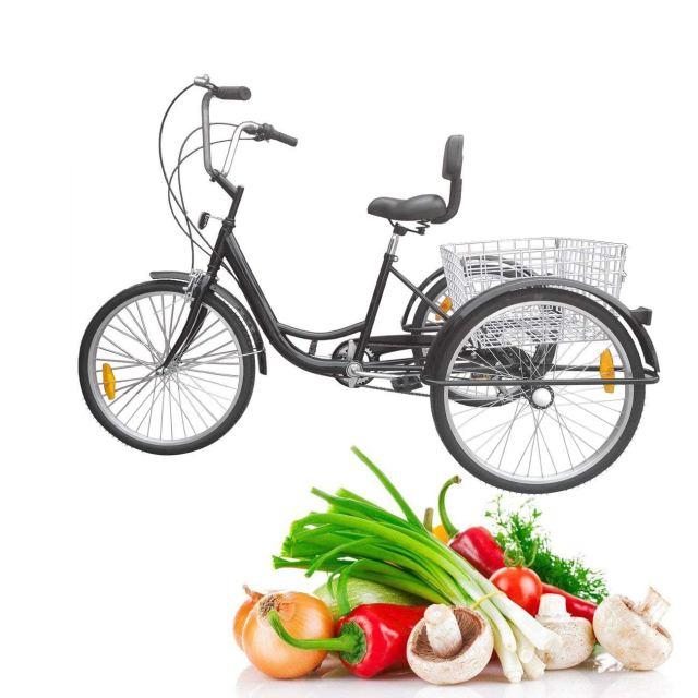Iglobalbuy 6 Speed Three Wheel Adult Tricycle Trike