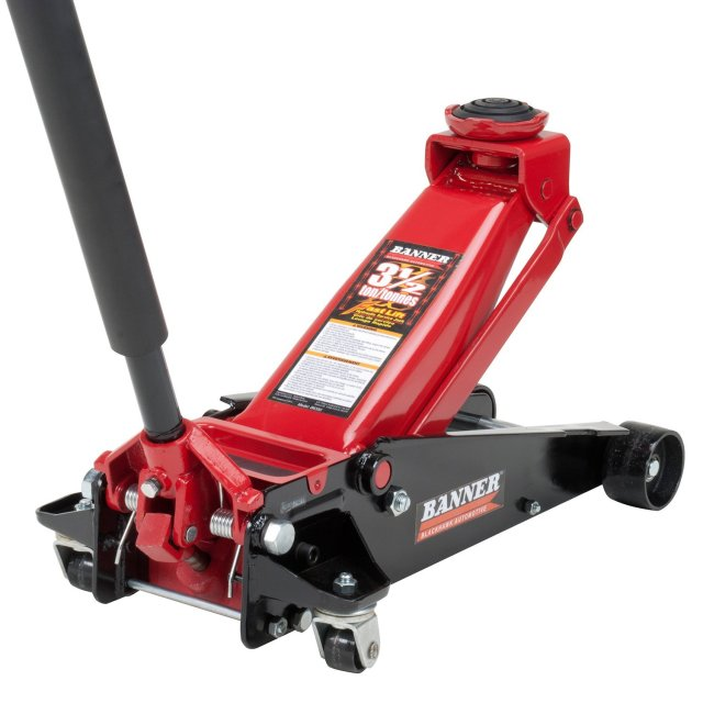 Blackhawk B6350 Black/Red Fast Lift Service Jack