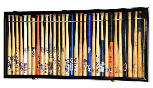 "Mini 18"" Baseball Mini Bat Display Case Cabinet Holder Rack w/98% UV"