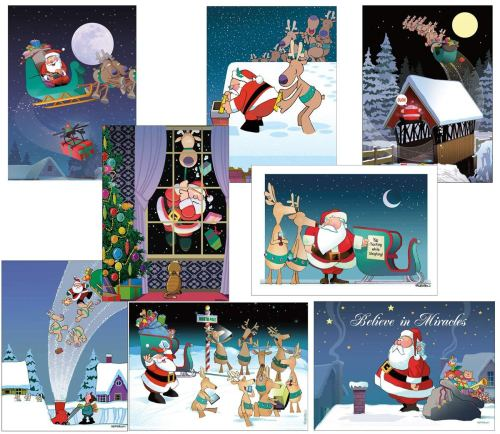 Box Set of Assorted Funny Christmas Cards - Christmas Greeting Cards
