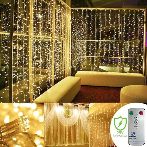Kohree Curtain Lights 300 LEDs 8 Mode