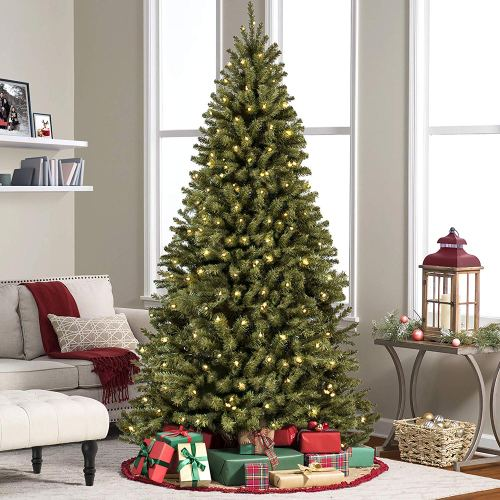 Best Choice Products Prelit Premium Artificial Christmas Tree