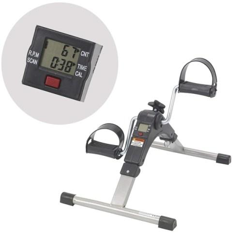 AdirMed Digital Foldable Mini Floor Foot Pedal Exerciser Leg Machine