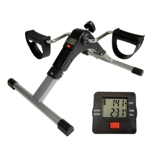 Lightweight Foldable Mini Pedal Exerciser Cycle Leg Arm under Desk LCD Display Fitness