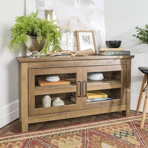 New 44 Inch Corner Television Stand - Rustic Oak Color