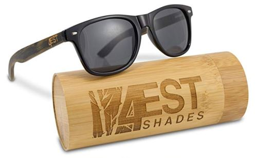 """Bamboo Sunglasses - 100% Polarized Wood Shades for Men & Women from the""""50/50"""" Collection"""
