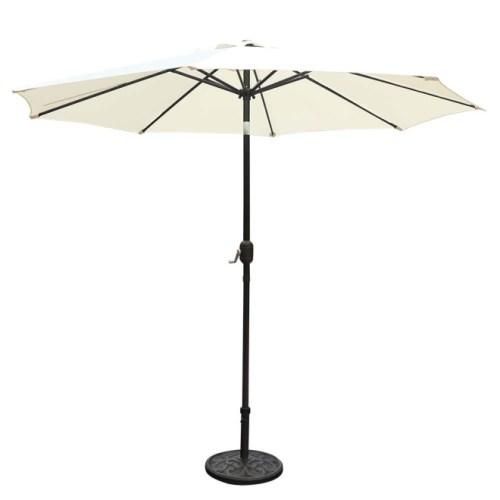 GOLDSUN Patio 9 Ft Market Outdoor Aluminum Table Patio Umbrella
