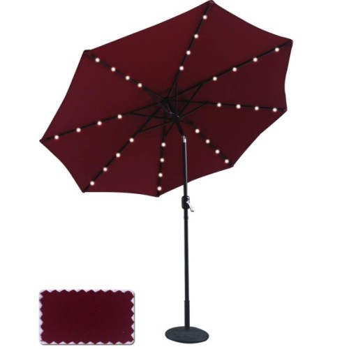 ABCCANOPY 9 FT Solar-Powered Patio Umbrella