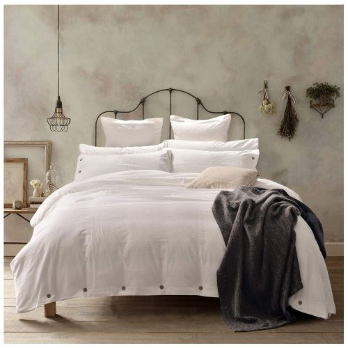 Doffapd Duvet Cover Queen, Washed Cotton Duvet Cover Set