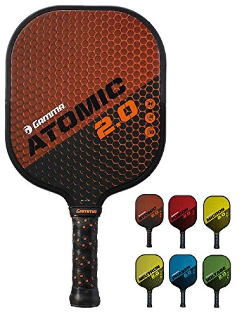 Gamma New 2.0 Pickleball Paddles (Graphite and Fiberglass Composite Face, New Textured/Older Untextured Surface - Aramid Honeycomb Core, 7-8 oz)