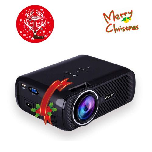 "TOPRUI 2018 Mini LED Movie Video Projector, +30% Brighter Lumens Full HD Portable Projector 1080P with 170"" Big Display for Outdoor/ Home Theater HDMI,TV,SD Card,AV,VGA,USB, iPhone Android Laptop"