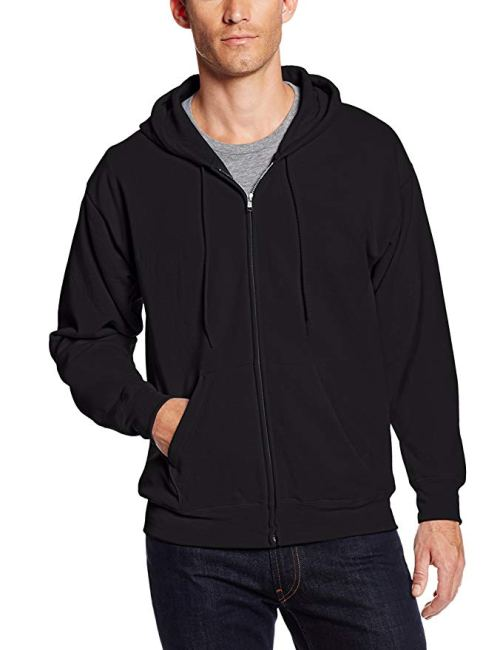 Hanes Men's Full-Zip EcoSmart Fleece Hoodie