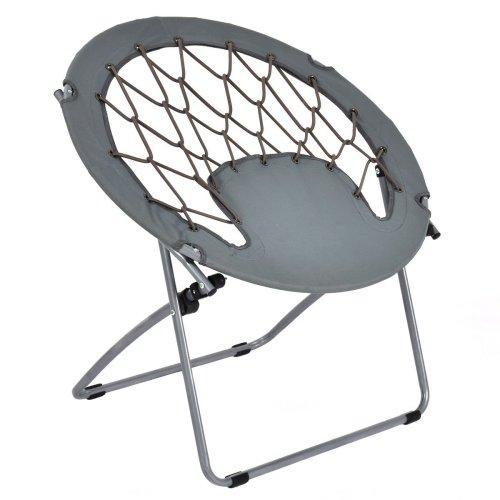 Giantex Folding Bunjo Bungee Chair Outdoor Bungee Dish Chairs