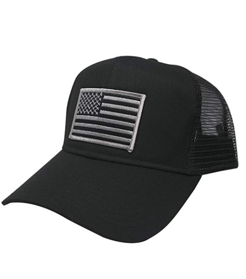 AC Racing USA American Flag Patch Snapback Trucker Mesh Cap