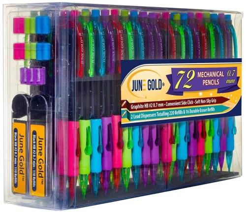 June Gold 72 Mechanical Pencils