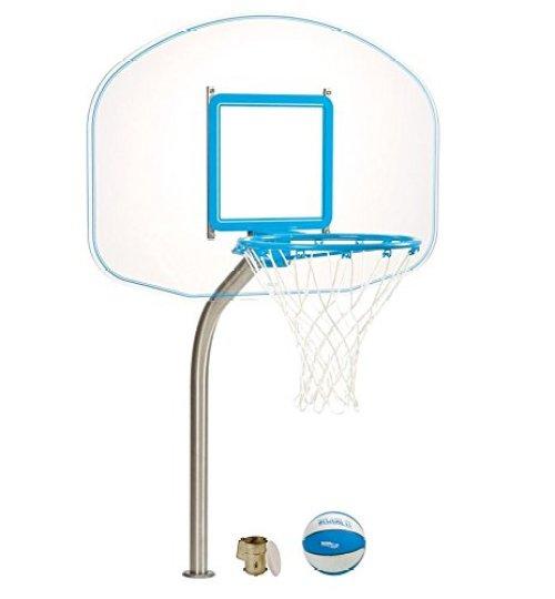 Dunnrite Deck Mounted Clear Hoop Pool Basketball Hoop