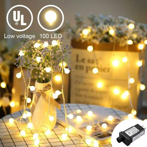 YMING LED Globe String Lights