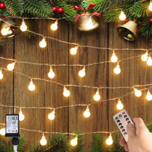 Minetom 33 FT 100 LED Globe Ball String Lights