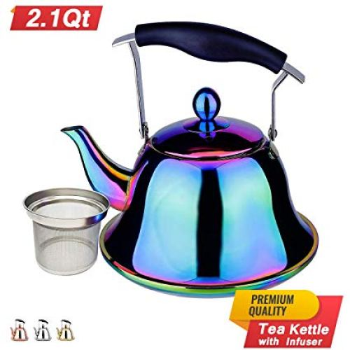 Rainbow Whistling Tea Kettle Stainless Steel