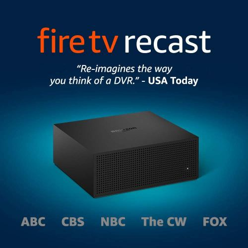 Fire TV Recast, over-the-air DVR, 500 GB, 75 hours (Includes $45 Sling TV credit)