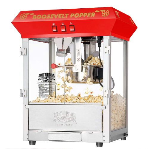 6010 Great Northern Red 8oz Roosevelt Antique Countertop Style Popcorn Popper Machine