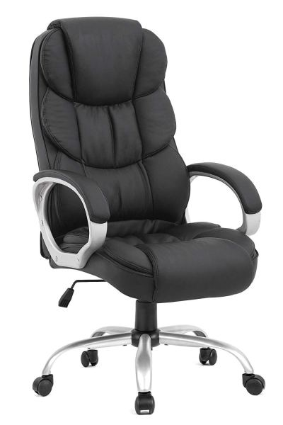 BestOffice Office Chair Desk Ergonomic Swivel Executive Adjustable Task Computer High Back Chair with Back Support in Home, 1, Black