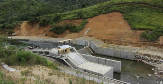 The intake dam at the PNG Forest Products' Bululo  power plant. Credit: PNGFP