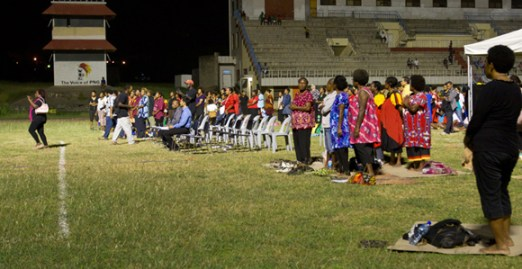 Crowds gather for the National Haus Krai for violence against women last night in Port Moresby. Credit: www.stellamag.com