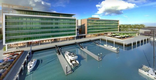 An artist's impression of Steamships' new Harbour Office, currently under construction in Port Moresby. Credit: Kramer Ausenco