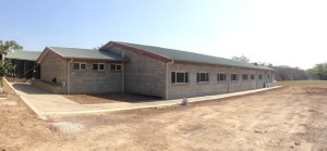 A science block under construction at Pacific Adventist University. Credit: AES
