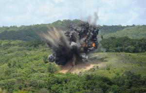 Shells cleared on Palau, 2014. Credit: AFP
