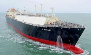 The PNG LNG project's new carrier. Credit: Mitsui.