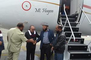 PM Peter O'Neill attends the christening of Air Niugini's latest aircraft, Mt Hagen.