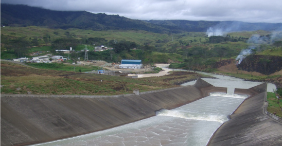The Yonki hydropower facility in Morobe Province