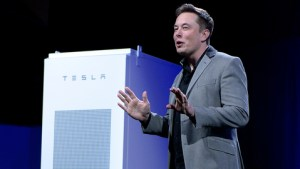 Tesla's Elon Musk has with new lithium-ion batteries for home and commercial use. Credit: Getty Images