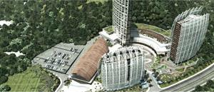 Artist's impression of Star Mountain Plaza. Credit NDY