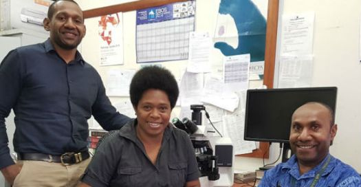 The ePathPG medical specialists, Dr Joe Norie, Dr Jacklyn Joseph and Dr Rodney Itaki.