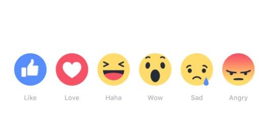 Facebook reaction icons