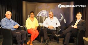 From Left: Frank McQuoid, Ernestine Maxim-Graham, Chey Scovell and Andrew Wilkins Source: Business Advantage International