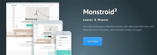 monstroid WordPress theme, template monster