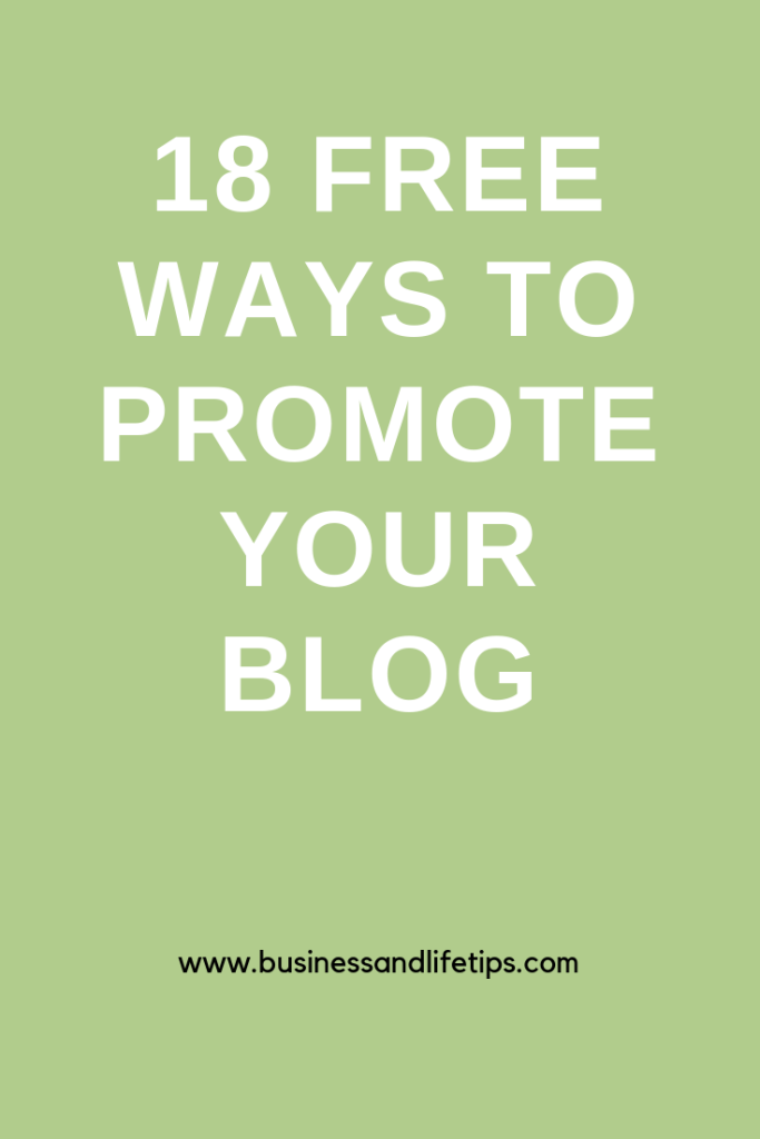 18 Free ways to promote your blog