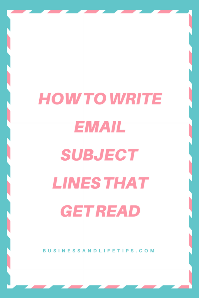 How to write Email subject lines that get read