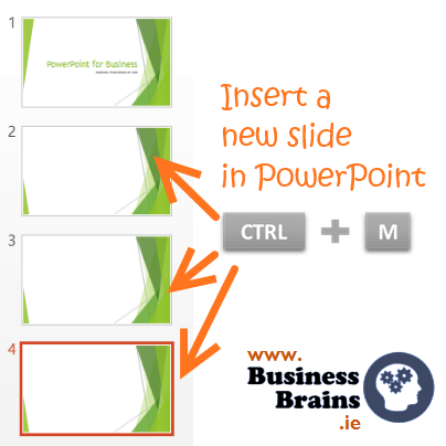 Insert a new slide in PowerPoint with CTRL+M. The layout for the new slide is the same as your current one. Like, Share or Comment. The next PowerPoint tip is going to be totes amazeballs on 29th January.