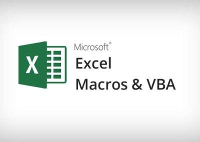 Microsoft Excel Macros & VBA Training Course