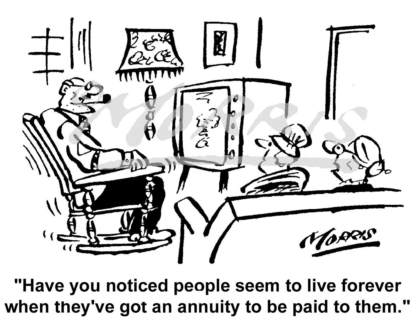 Insurance cartoon, Insurance comic, Annuity cartoon