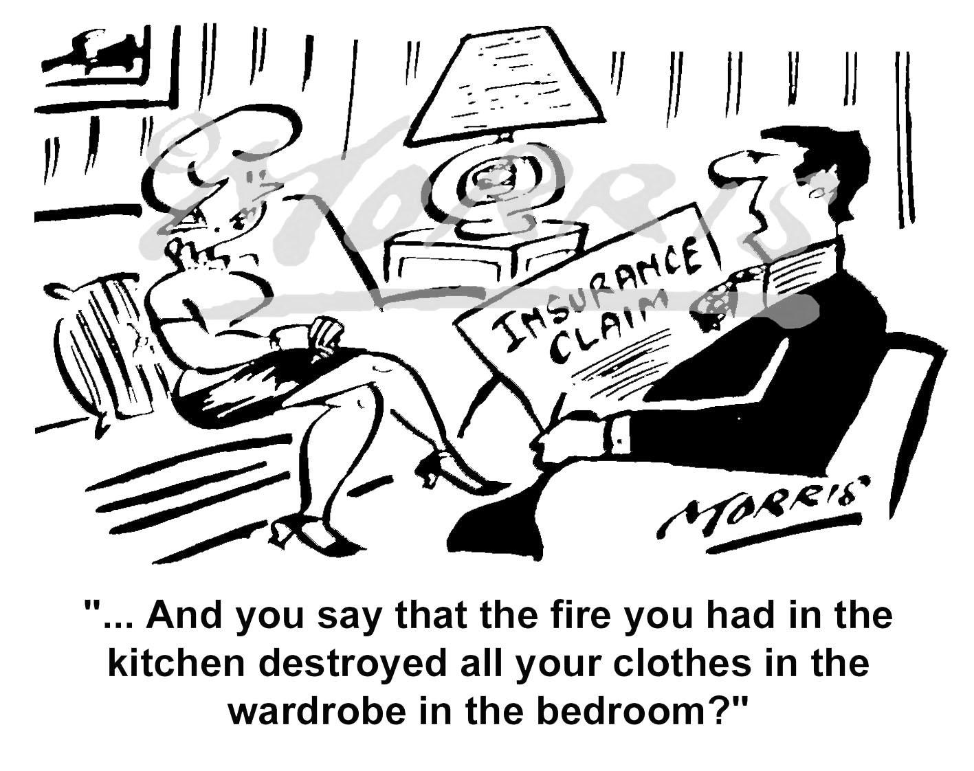 Home Insurance claim cartoon