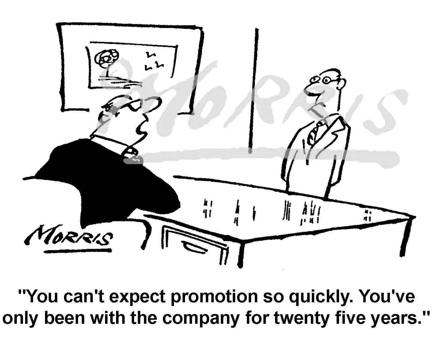 Employee company job promotion cartoon