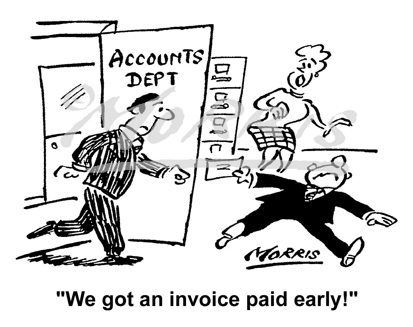 Company Accounts invoice cartoon